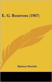 E. G. Bostrom (1907)