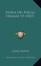 Storia Dei Popoli Italiani V5 (1827)