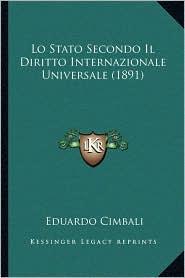 Lo Stato Secondo Il Diritto Internazionale Universale (1891)