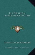 Altdeutsch - Conrad Von Bolanden