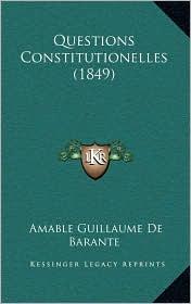 Questions Constitutionelles (1849)