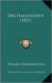 Der Hausfrieden (1857) - Eduard Osenbruggen