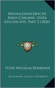 Neuhaldenslebische Kreis-Chronik, Oder Geschichte, Part 2 (1826)