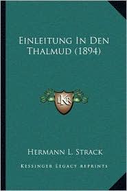Einleitung in Den Thalmud (1894)