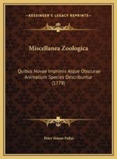 Miscellanea Zoologica - Peter Simon Pallas