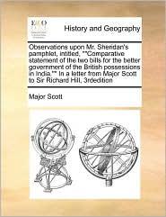 Observations upon Mr. Sheridan's pamphlet, intitled,