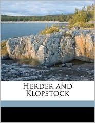 Herder and Klopstock - Frederick Henry Adler