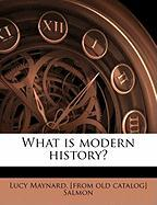 What Is Modern History?