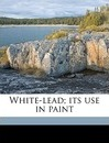 White-Lead; Its Use in Paint - Alvah Horton Sabin