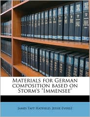 Materials For German Composition Based On Storm's Immensee
