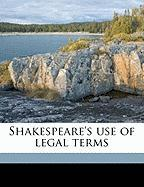 Shakespeare's Use of Legal Terms