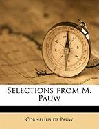 Selections from M. Pauw