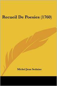 Recueil De Poesies (1760) - Michel Jean Sedaine