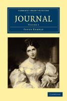 Journal: Volume 1 (Cambridge Library Collection - History)