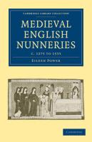 Medieval English Nunneries: C.1275 to 1535