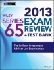 Wiley Series 65 Exam Review 2013 + Test Bank