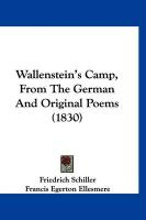 Wallenstein's Camp, from the German and Original Poems (1830)