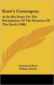 Kant's Cosmogony - Immanuel Kant