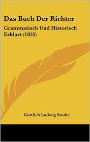 Das Buch Der Richter - Gottlieb Ludwig Studer