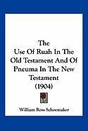 The Use of Ruah in the Old Testament and of Pneuma in the New Testament (1904)