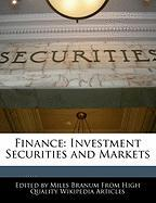 Finance: Investment Securities and Markets