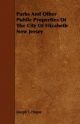 Parks And Other Public Properties Of The City Of Elizabeth New Jersey - Joseph T. Hague