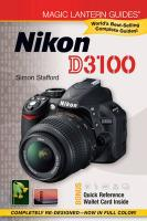 Nikon D3100 by Stafford, Simon ( Author ) ON Jun-30-2011, Paperback