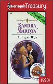 A Proper Wife - Sandra Marton