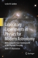 Laboratory Experiments in Physics for Modern Astronomy - Leslie M. Golden