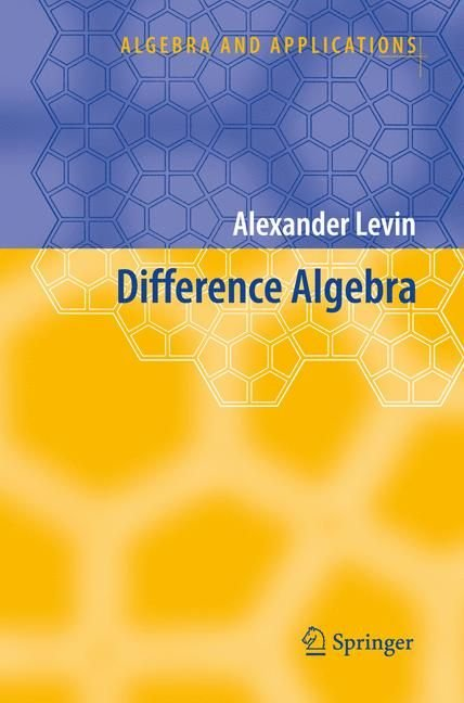 Difference Algebra - Alexander Levin