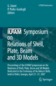 IUTAM Symposium on Relations of Shell, Plate, Beam and 3D Models - George Jaiani; Paolo Podio-Guidugli