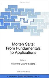 Molten Salts: From Fundamentals to Applications - Gaune-Escard, Marcelle