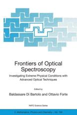 Frontiers of Optical Spectroscopy - Baldassare Di Bartolo