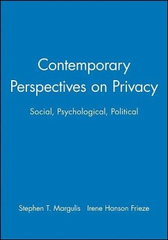 Contemporary Perspectives on Privacy: Social, Psychological, Political - Margulis, Stephen T.