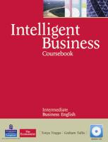 Intelligent Business Intermediate Course Book (with Class Audio CD)