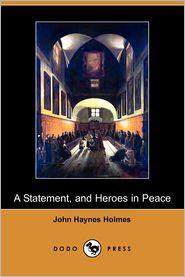 A Statement - John Haynes Holmes