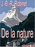 De la nature - Jean-Baptiste-René Robinet