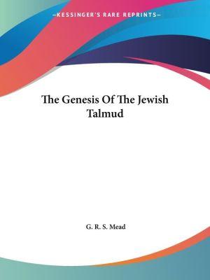 Genesis of the Jewish Talmud