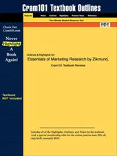 Studyguide for Essentials of Marketing Research by Zikmund, ISBN 9780324182576 - Zikmund / Cram101 Textbook Reviews / Cram101 Textbook Reviews