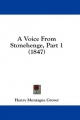 Voice from Stonehenge, Part 1 (1847) - Henry Montague Grover