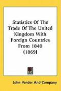 Statistics of the Trade of the United Kingdom with Foreign Countries from 1840 (1869)