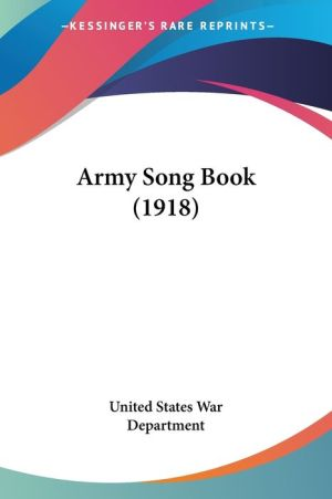 Army Song Book (1918)