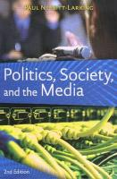 Politics, Society, and the Media, Second Edition: Canadian Perspectives
