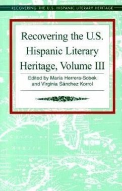 Recovering the U.S. Hispanic Literary Heritage - Herausgeber: Korrol, Virginia Sanchez Herrera-Sobek, Maria