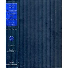The New Grove Dictionary of Music and Musicians: 29 volumes with index - Unknown