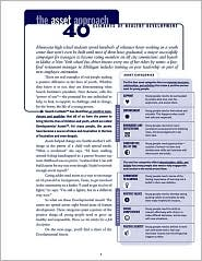 The Asset Approach: 40 Elements of Healthy Development (Pack of 20) - Search Institute Press