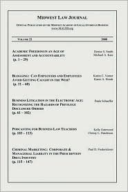 Midwest Law Journal, Volume 22 - Dawn Swink (Editor)