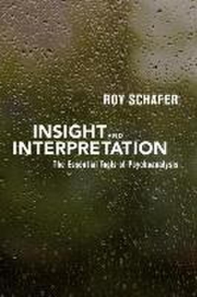 Insight and Interpretation: The Essential Tools of Psychoanalysis - Schafer Roy