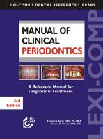 Manual of Clinical Periodontics: A Reference Manual for Diagnosis & Treatment