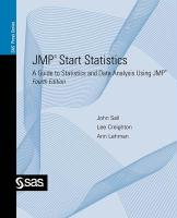 JMP Start Statistics: A Guide to Statistics and Data Analysis Using JMP